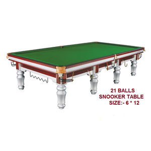Silver Legs Snooker Table