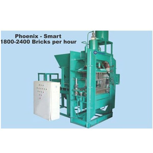 Vertical press fly ash brick machine