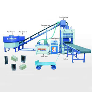 Fully Automatic Fly-ash Bricks Machine With Belt