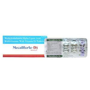 Mecobalamine ALA Vit. D3 Folic Pyridoxine Thiamin Tablet
