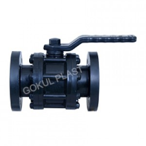 H.D.P.E Ball Valve Flange End