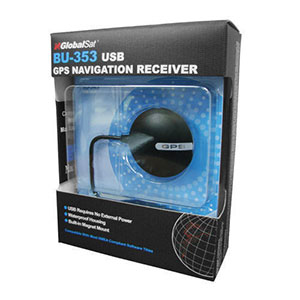 GlobalSat BU-353S4 USB Aadhar GPS Receiver