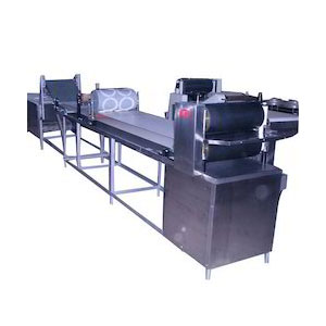 Khakra Sheeting & Cutting Machine with Oven