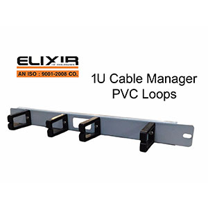 1U Cable Manager PVC Loops