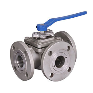 Stainless Steel Flanged 3 Way Ball Valve