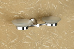 PY-06 Glass Double Soap Dish