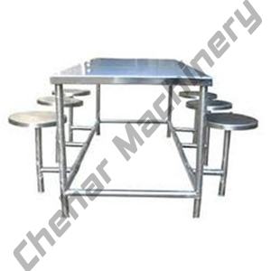6 Seater SS Table