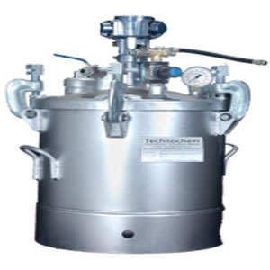 Pressure Feed Container with Pneumatic Stirrer
