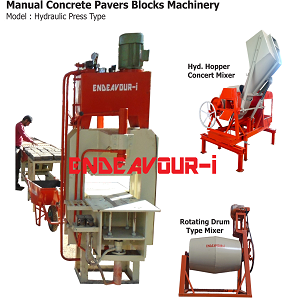 Manual Concrete Pavers Blocks Machinery-Hydraulic Press Type