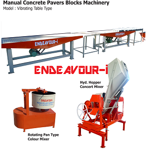 Manual Concrete Pavers Blocks Machinery-Vibrating Table Type