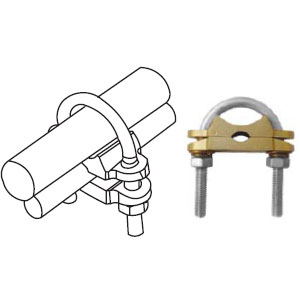 Clamp For Connecting Earth Rod & Round conductor in Parallel