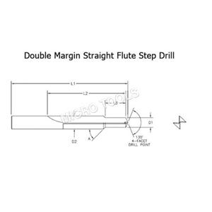 Carbide Straight Flute Step Drill