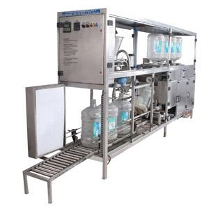 Fully Automatic 20 LTR's Jar Rinsing, Filling & Capping Machine