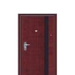 Glossy Wood Finish Steel Security Doors