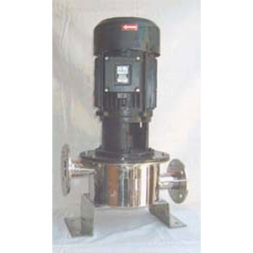 Vertical single stage inline pump