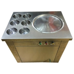 Electrical Manual Fry Ice Cream Machine