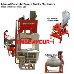 Manual Concrete Pavers Blocks Machinery –  Hydraulic Press Type