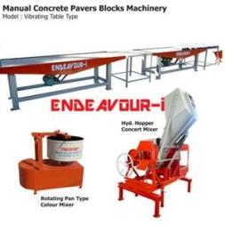 Manual Concrete Pavers Blocks Machinery – Vibrating Table Type