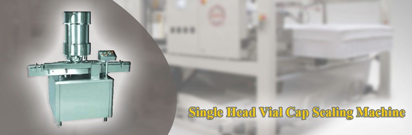 Single Head Vial Cap Sealing Machine