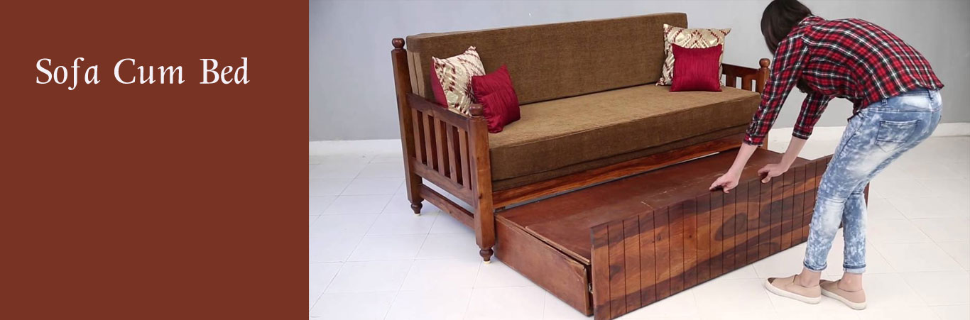 Wooden Bed And Sofa Set