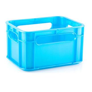 Plastic Light Blue Storage Crates