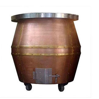 Hammered Copper Tandoor