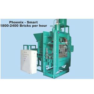 Vertical press fly ash brick machine