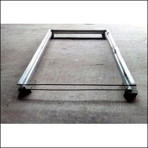 Steel door frame mill