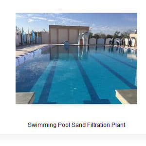 Swimming Pool Sand Filtration Plant