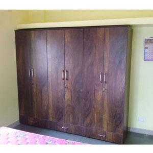 Plain Wooden Wardrobe