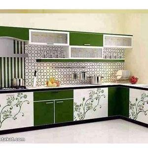 Modular Kitchen With Cabinet