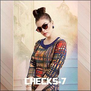 Smore Fashion Checks-7 Rayon Kurti