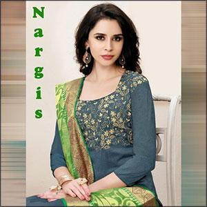 Alpha Textile Nargis Banarsi Silk Dress Materia
