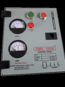 control panel of submersible pump 2