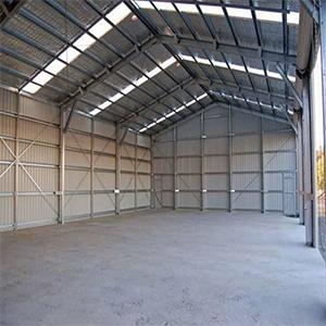 Mild Steel Shed Fabrication Work