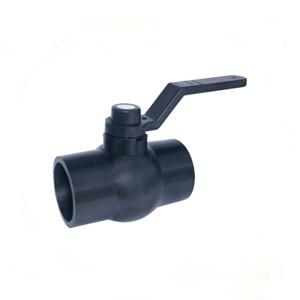 Black Solid Ball Valve Long Ms Plate Handle