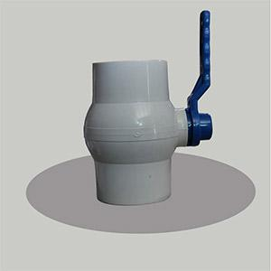 White Solid Ball Valve Long Handle