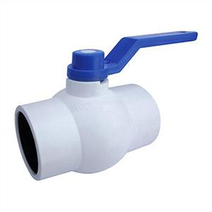 White Solid Ball Valve Long Ms Plate Handle